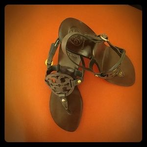 Slightly Used Tory Burch Leather Sandals